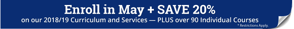Enroll in May and Save 20% on Calvert Curriculum and Services - PLUS over 90 Single Courses